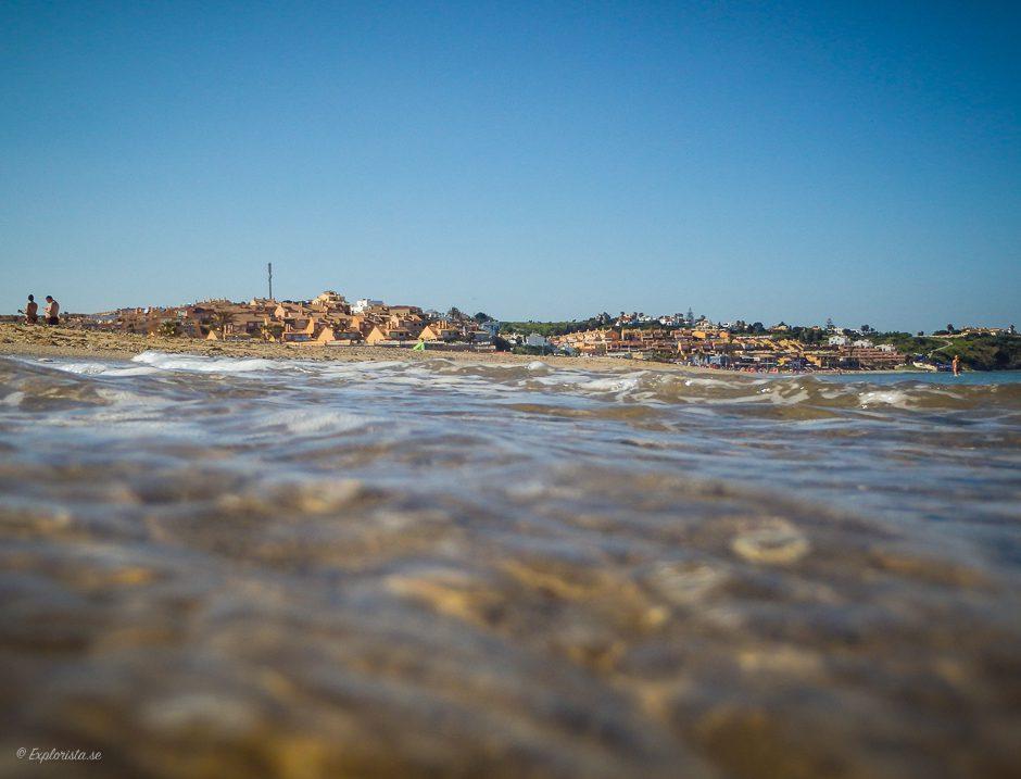 getares stad från stranden