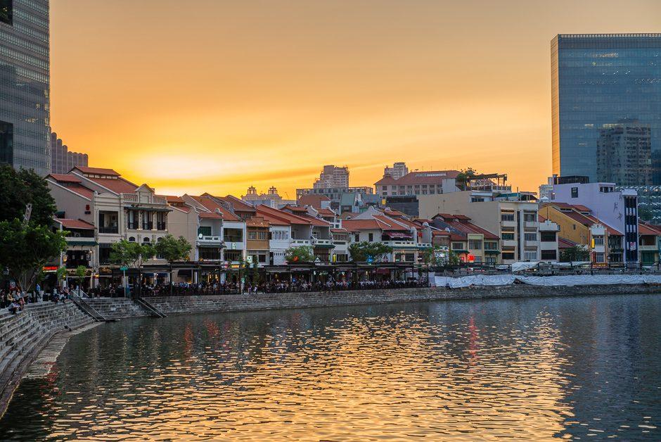 singapore solnedgång