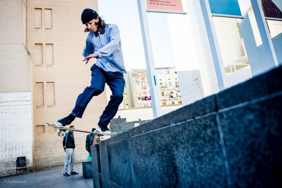 skateboardåkare hopp
