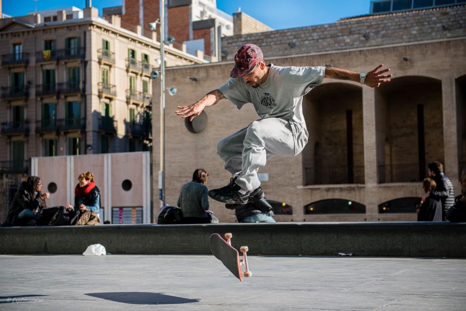 skateboardåkare trick