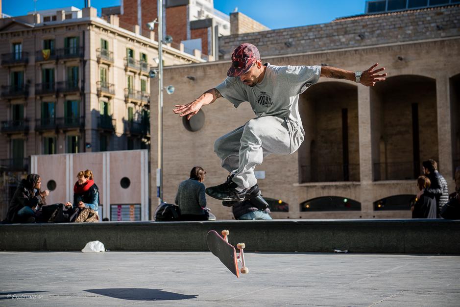skateboardåkare färdigbehandlad bild