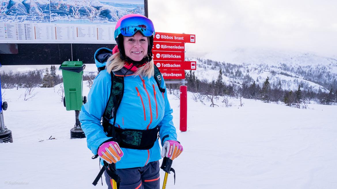 MiaShopping på skidor