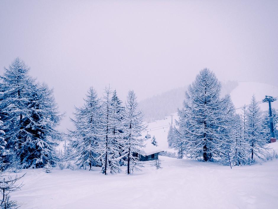 utsikt snö