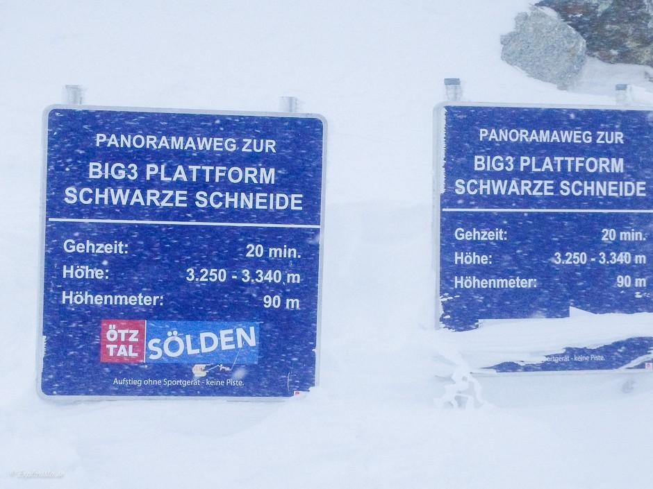 skyltar big 3 platform sölden