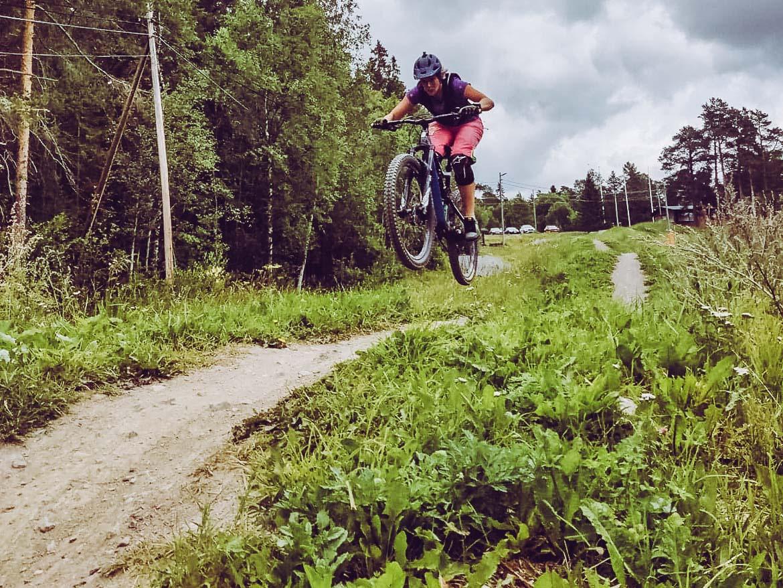 Hoppträning i Brunflo bike park