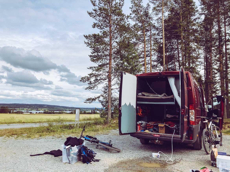 Fugelstastigarna parkering mountainbike
