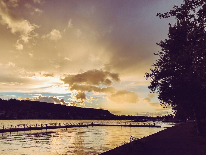 Solnedgång över Storsjön i Östersund