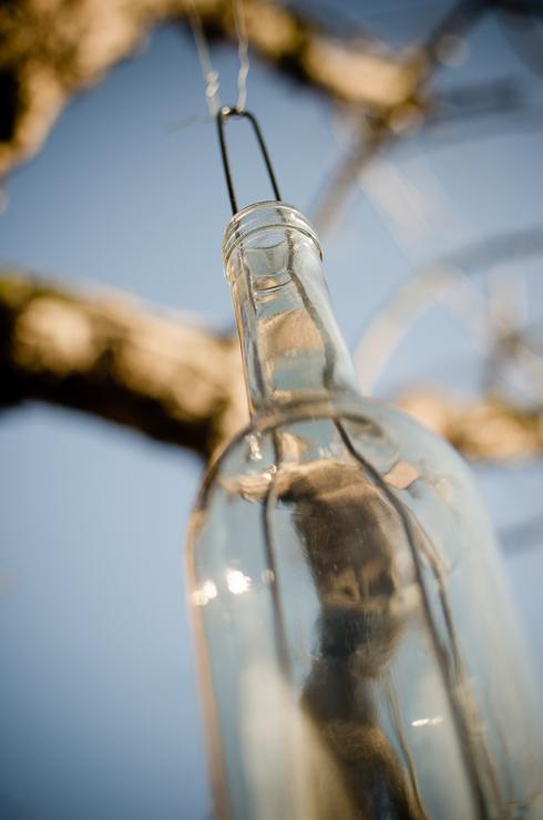 granit flaska lykta