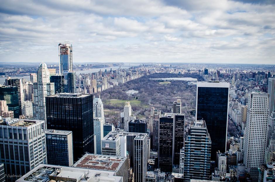 utsikt över central park