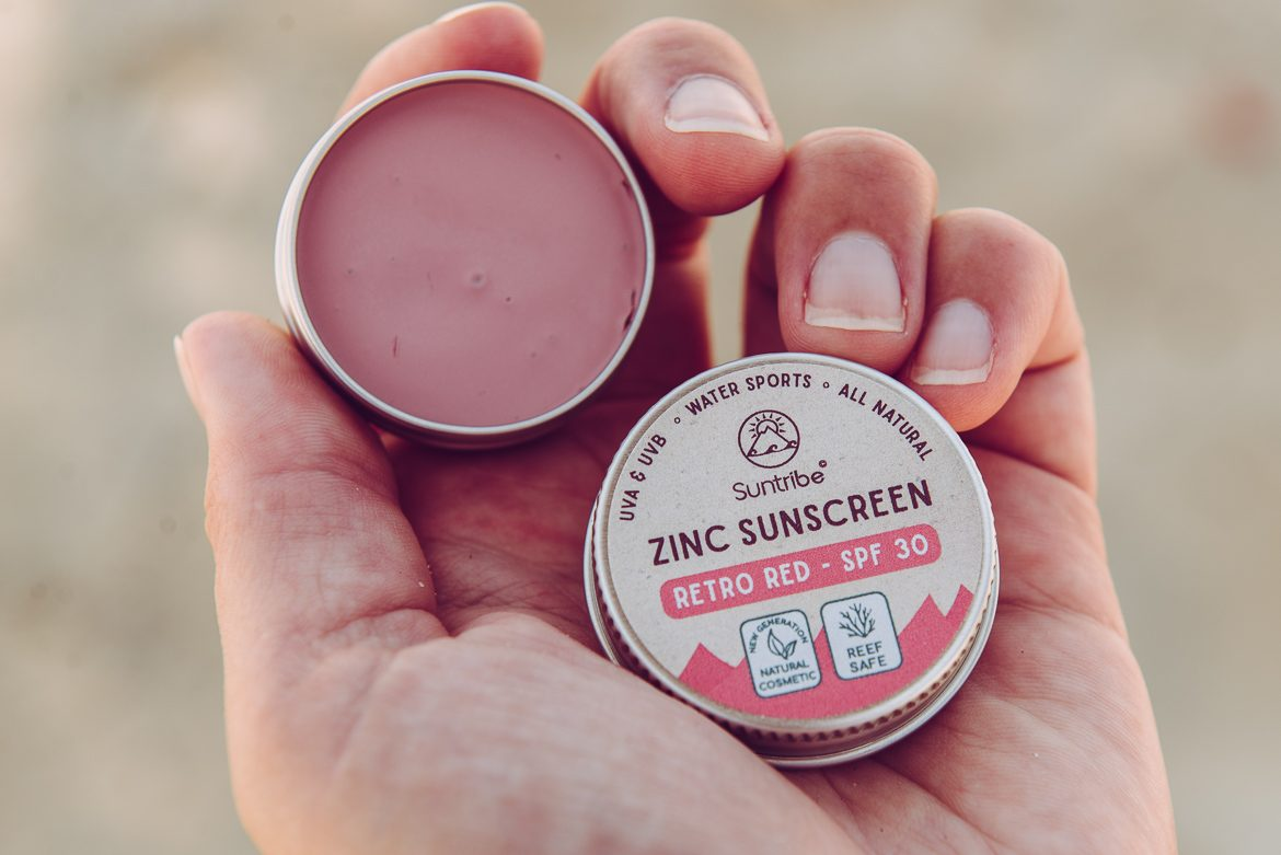 Suntribe worry-free sunscreen produkter - Zinc red