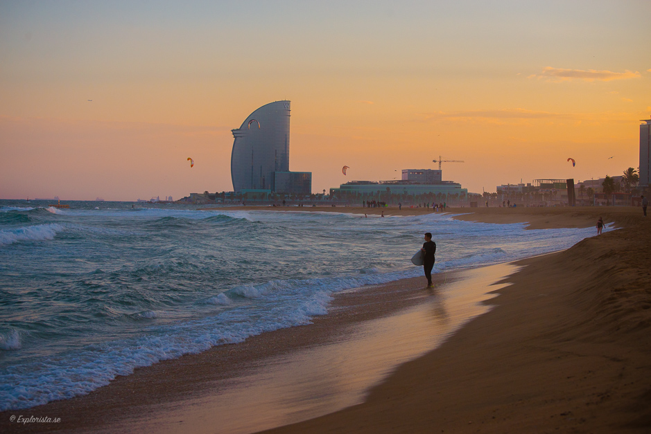 sunset surf barcelona