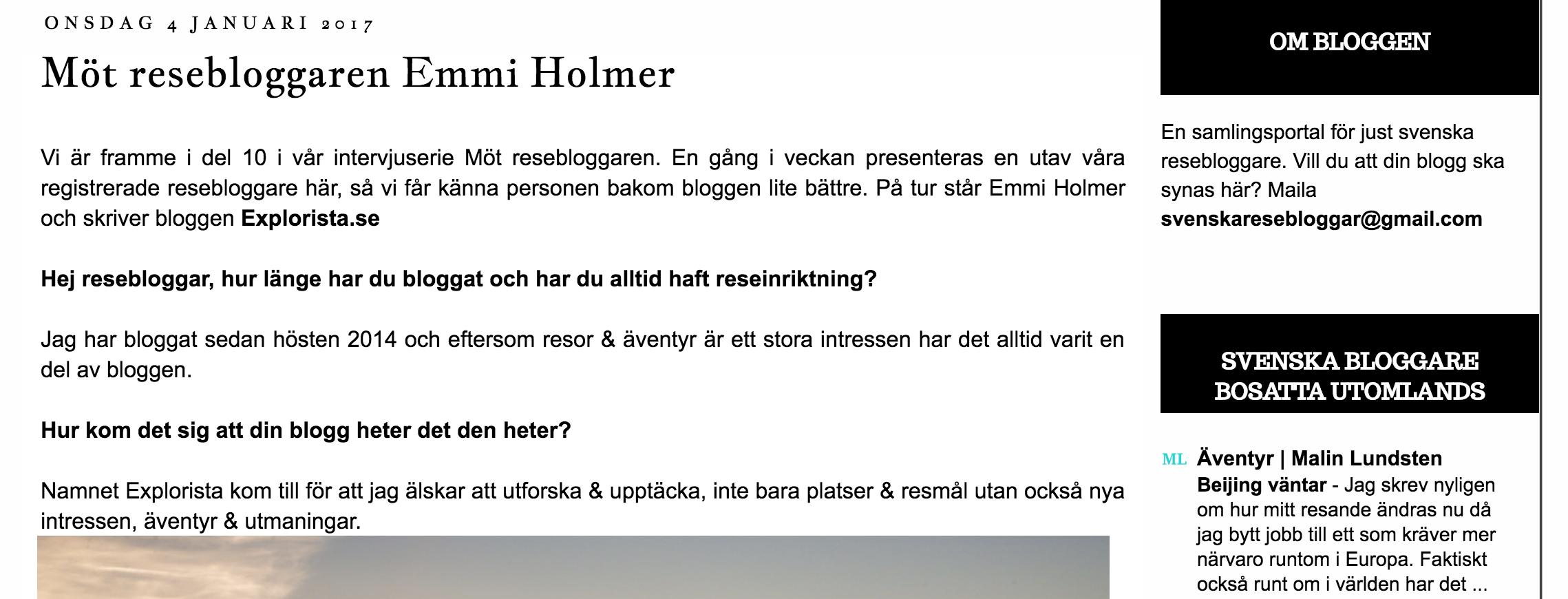 svenska resebloggar intervju