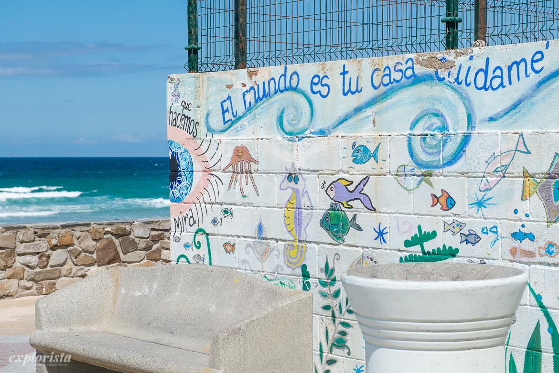 grafitti vid havet