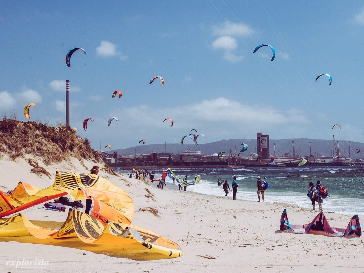 Palmones kitebeach in Algeciras outside Tarifa