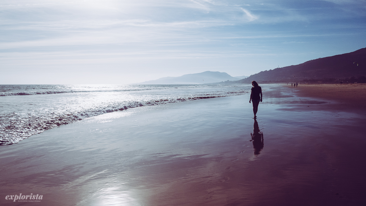 emmi på strand