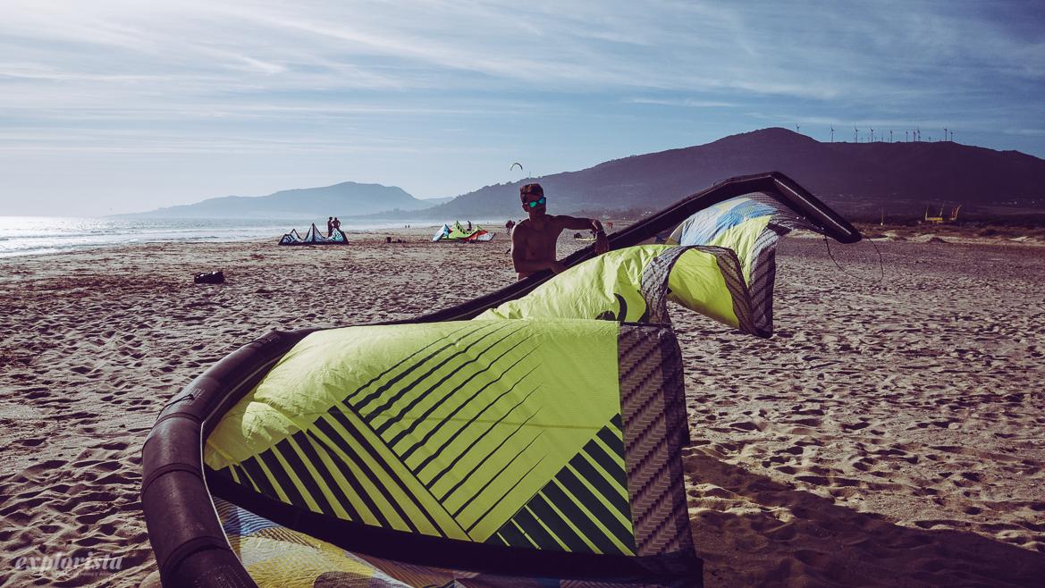 Los lances kitesurfer