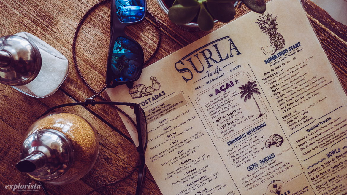 Surfa menu