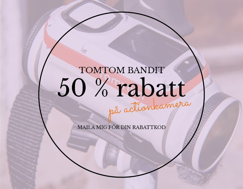 50% rabatt tomtom bandit actionkamera