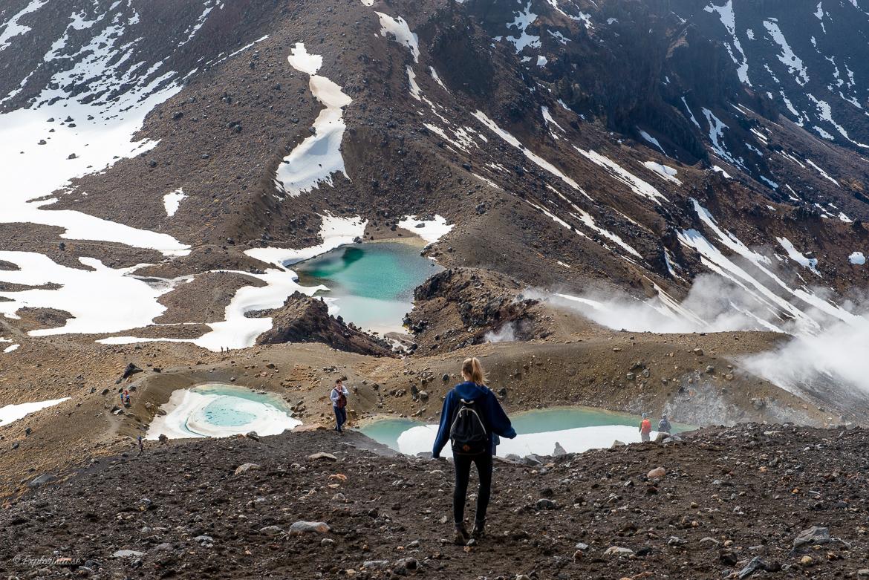 turkos fjällsjöar tongariro alpine crossing