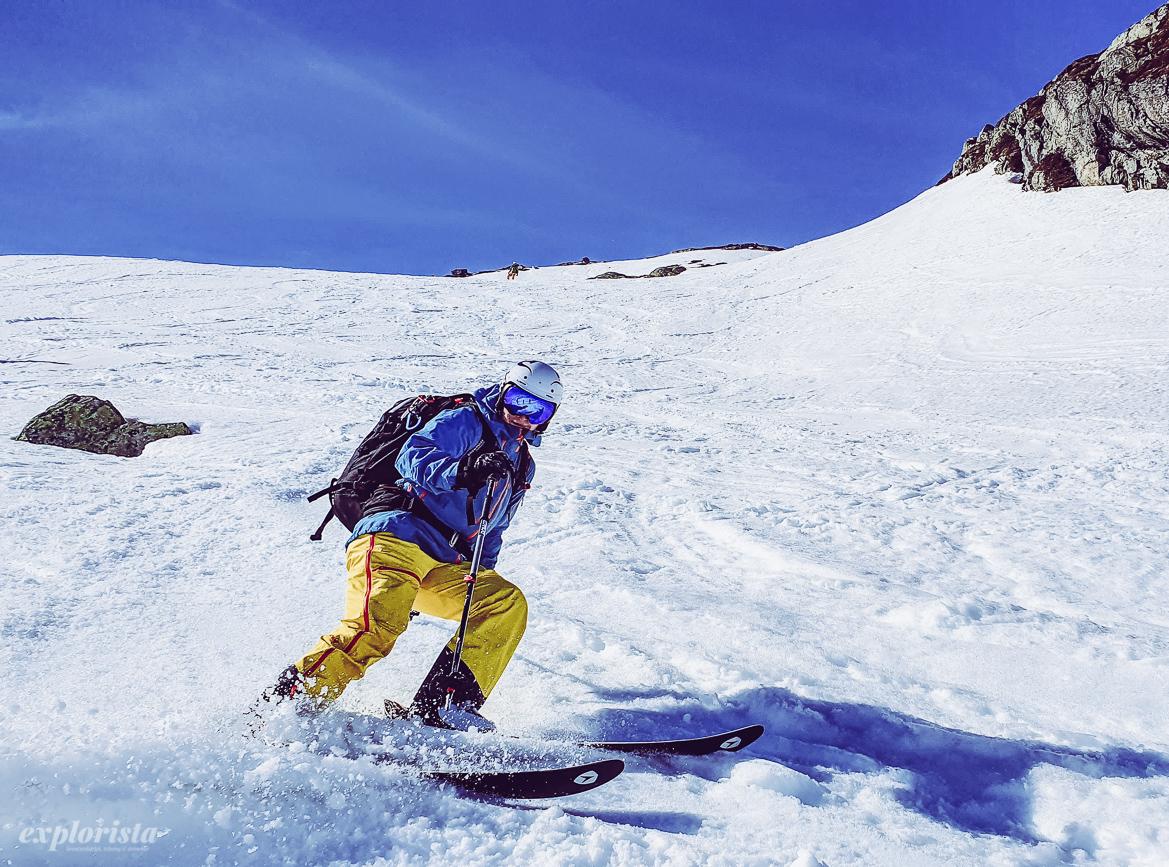 malin på skidor