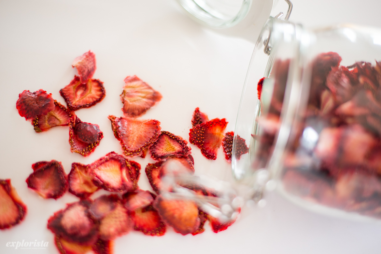 torkade jordgubbar