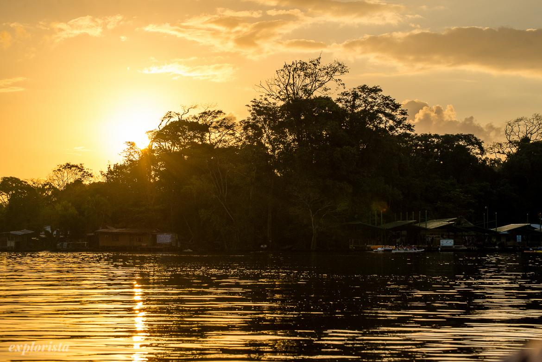 båttur i soluppgång