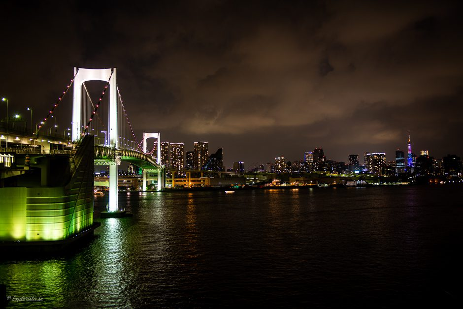 nattfoto tokyo rainbow bridge