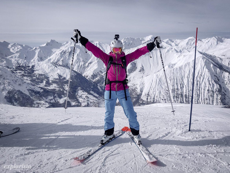 explorista skidåkning