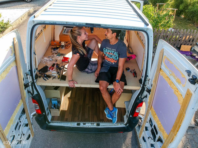 emmi och kille bygger campervan