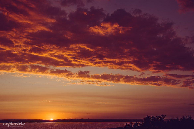 solnedgång i danmark