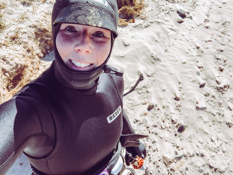 kitesurftjej vinter