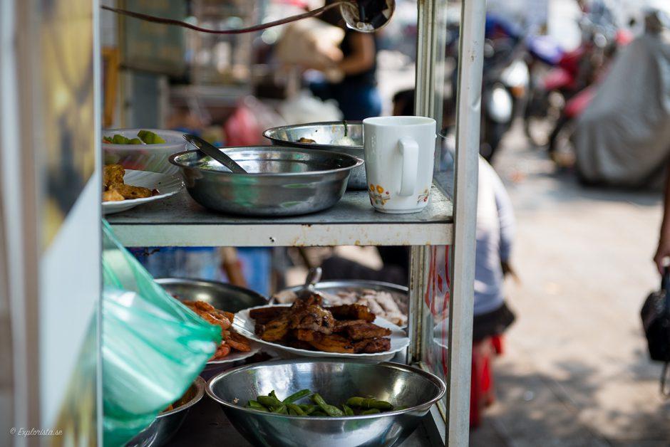 mat på gatan