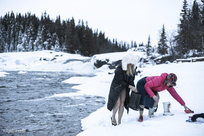 bucketlife och explorista vinterbadar