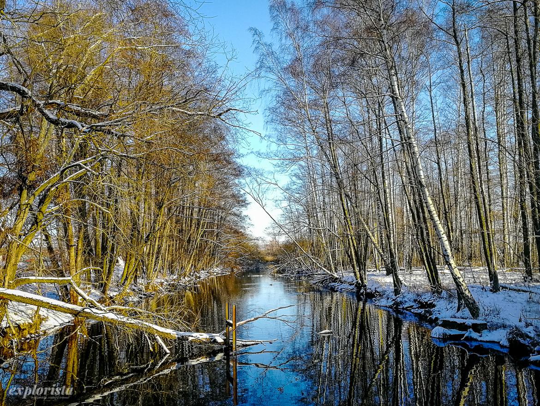 kanal vid rocksjön vinter