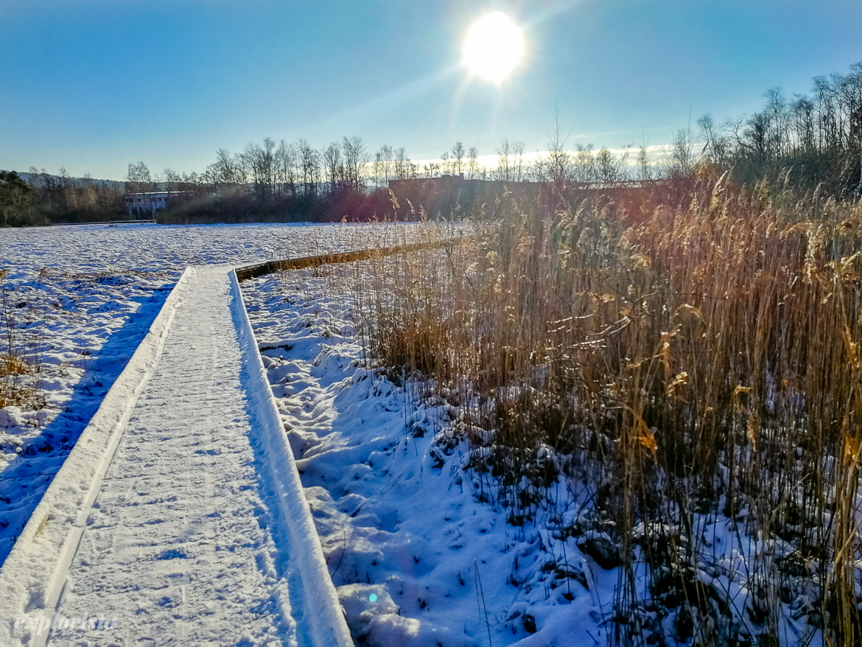 rocksjön vinter sol