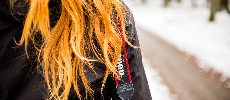 orange hår vinter