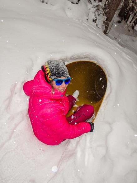 rutschkanarör genom snö